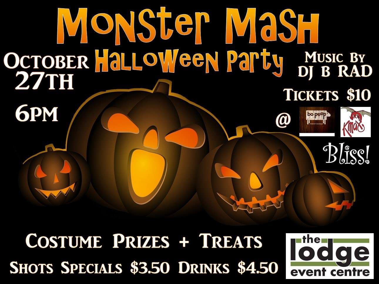 monster mash halloween party @ the lodge - my cariboo now